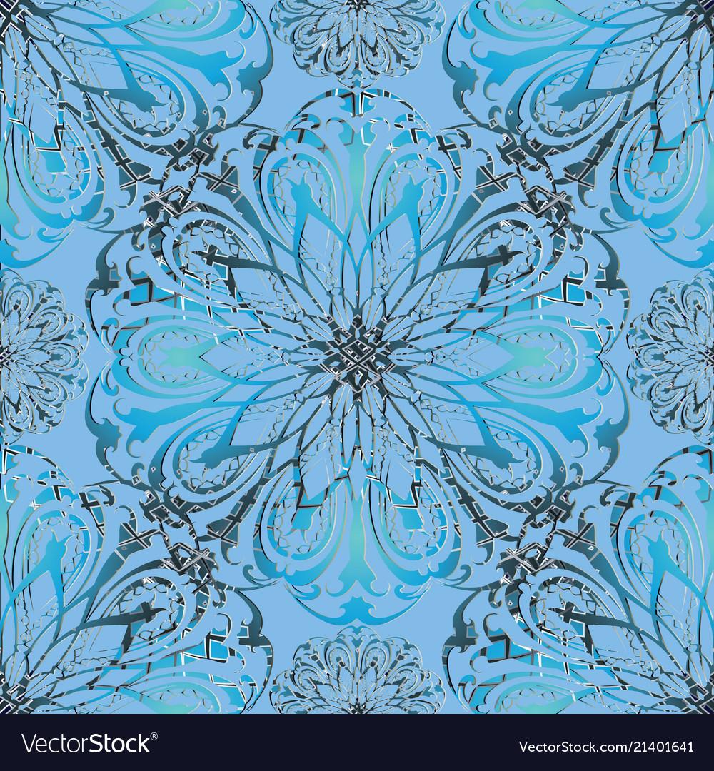 Elegance floral 3d seamless mandala pattern