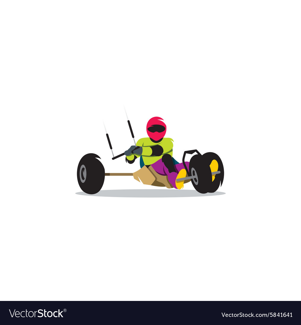 Kite buggy sport sign