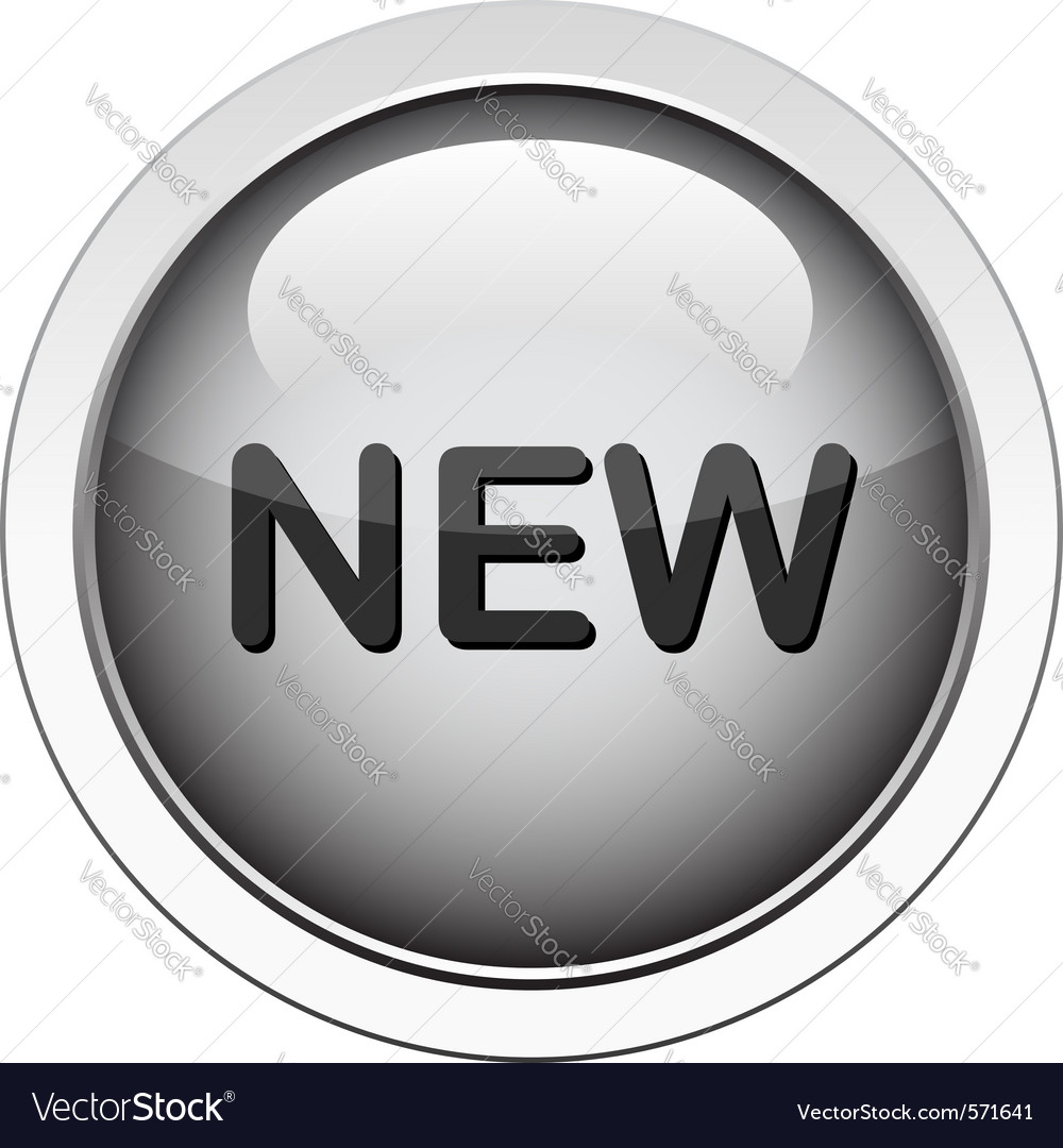 New button vector image