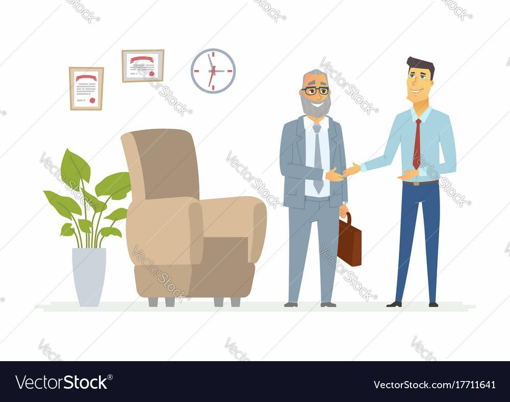 Productive business communication - modern cartoon