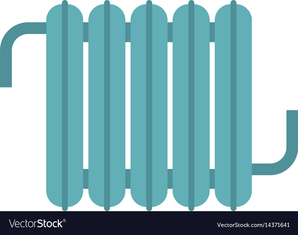 Retro iron central heating battery icon isolated