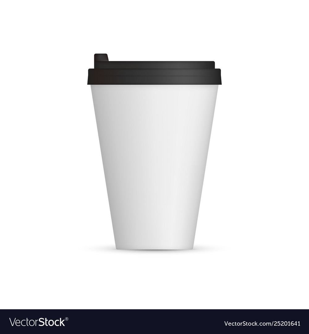 White coffee cap mock up empty mug template with