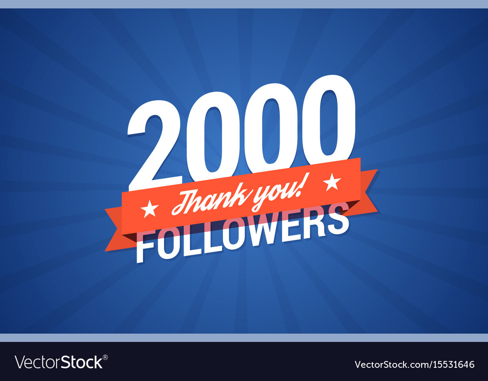 2000 followers card