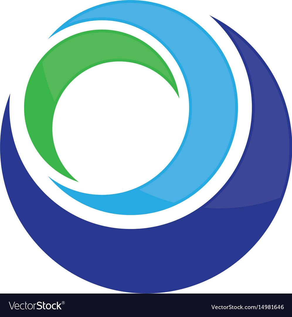 Circle abstract business logo image