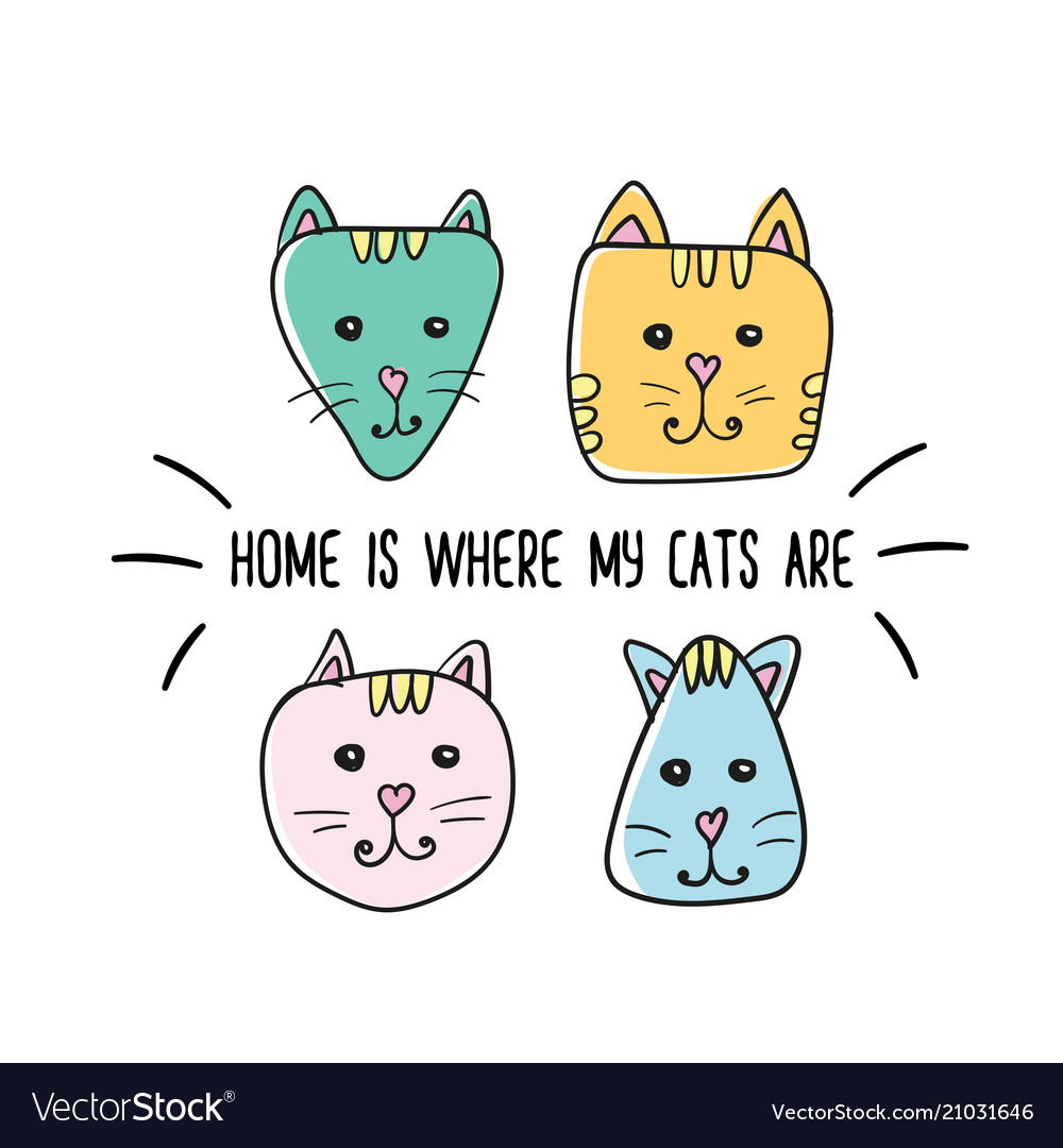Home is where my cats are quote inspiration