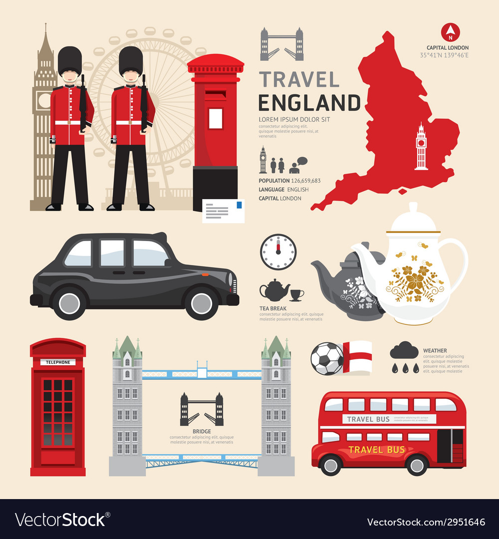 5fc9cb1c0f09f London United Kingdom Flat Icons Design Travel Vector Image
