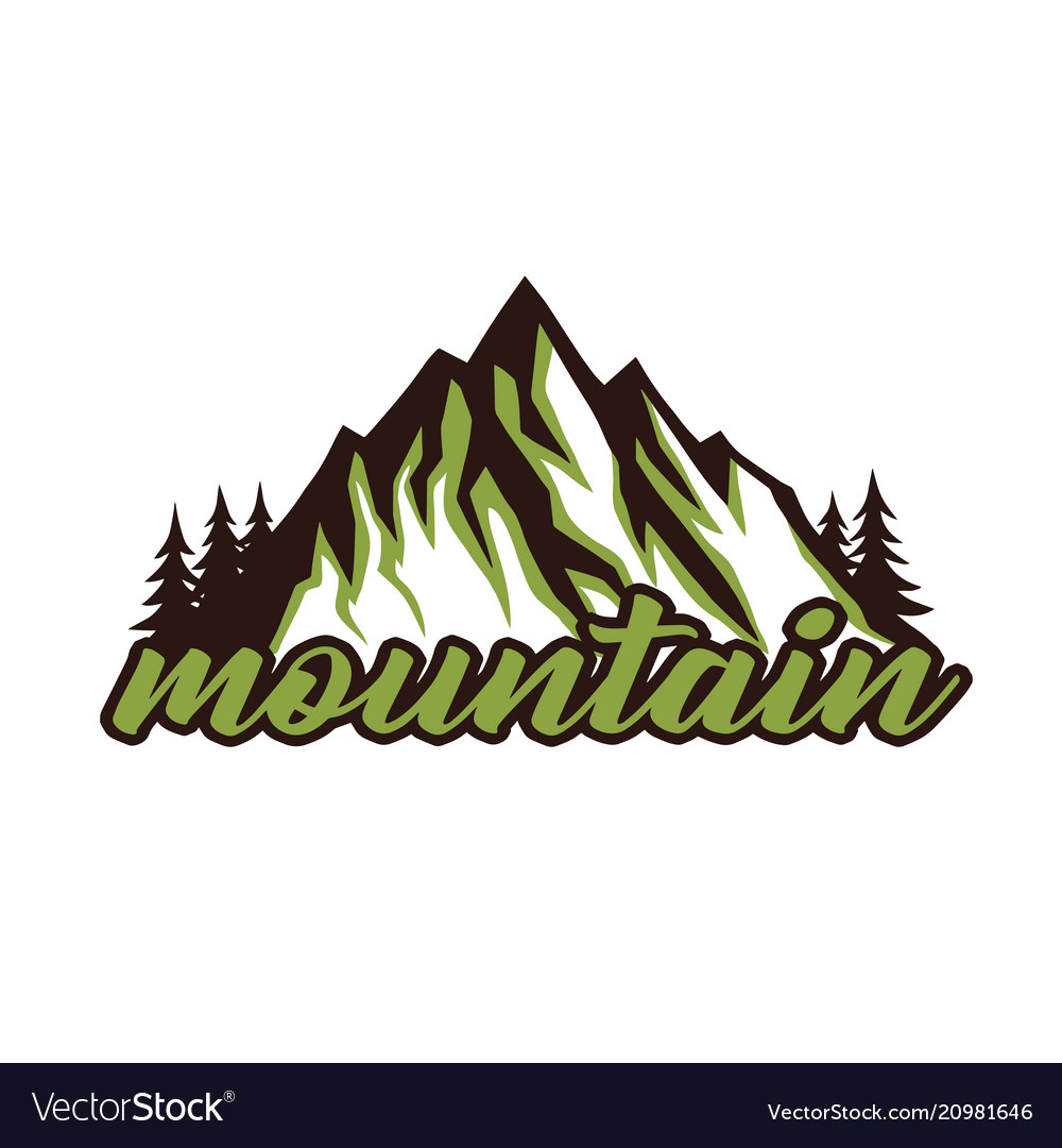 Mountain explorer adventure badge logo