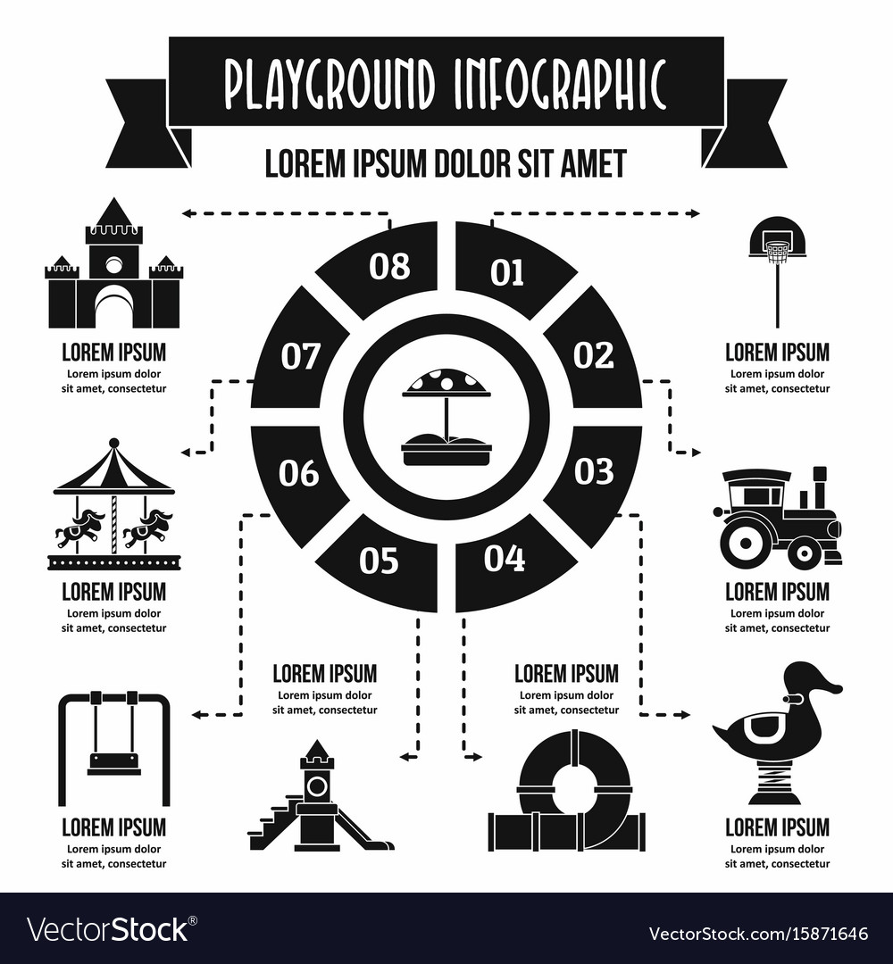 Playground infographic concept simple style vector image