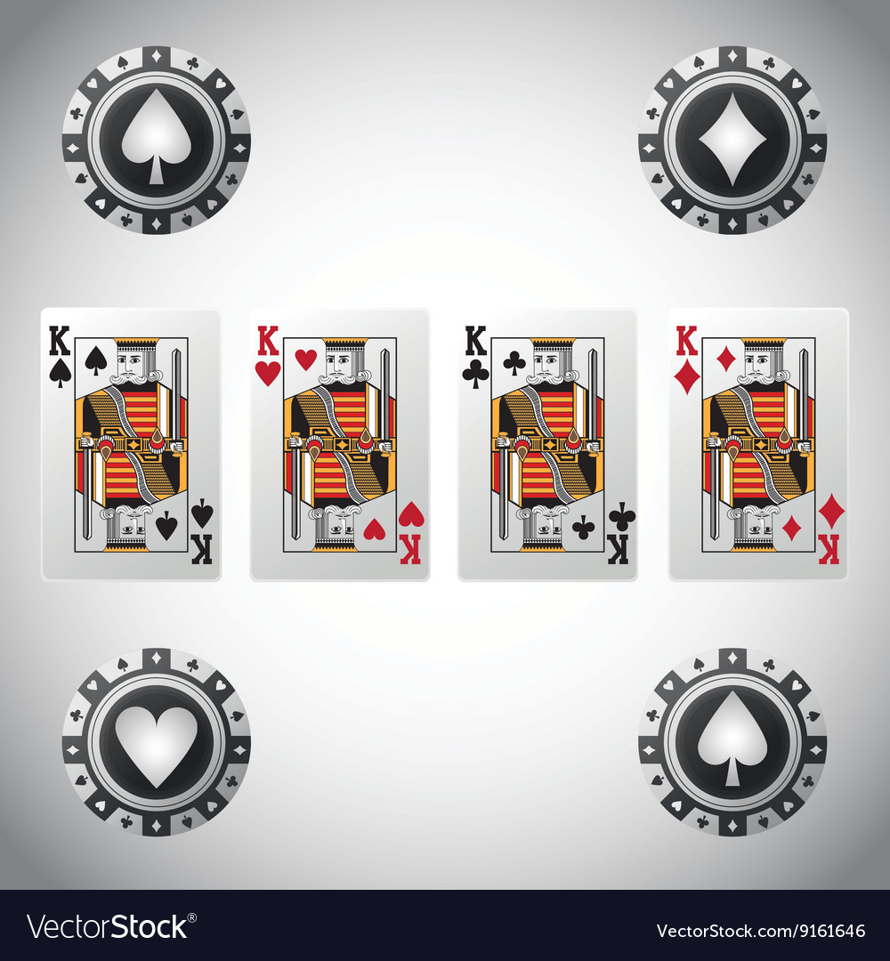 Poker design cards and chips concept casino