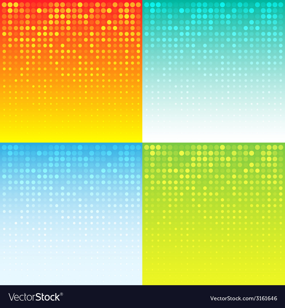 Set of Colorful Abstract Halftone Background