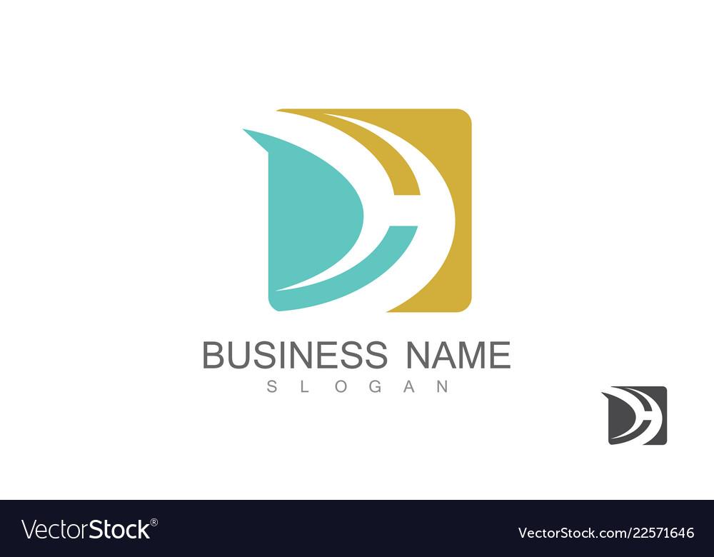 Square letter d business logo