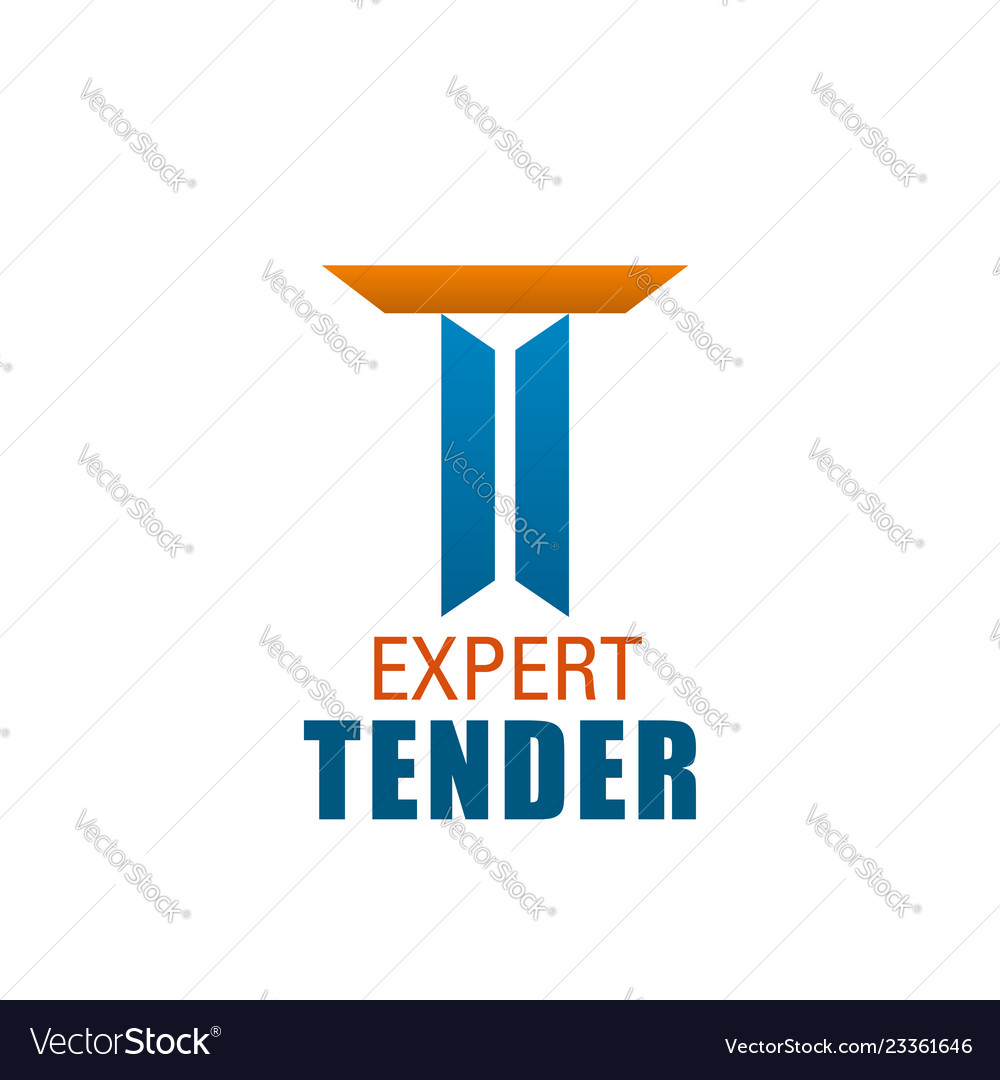 T Letter Icon For Expert Tender Company