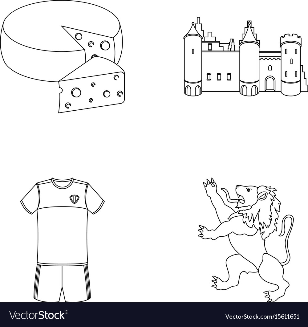 Cheese lion and other symbols of the country