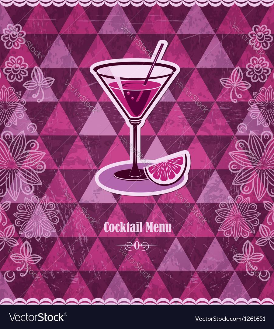 Cocktail vintage mosaic pattern