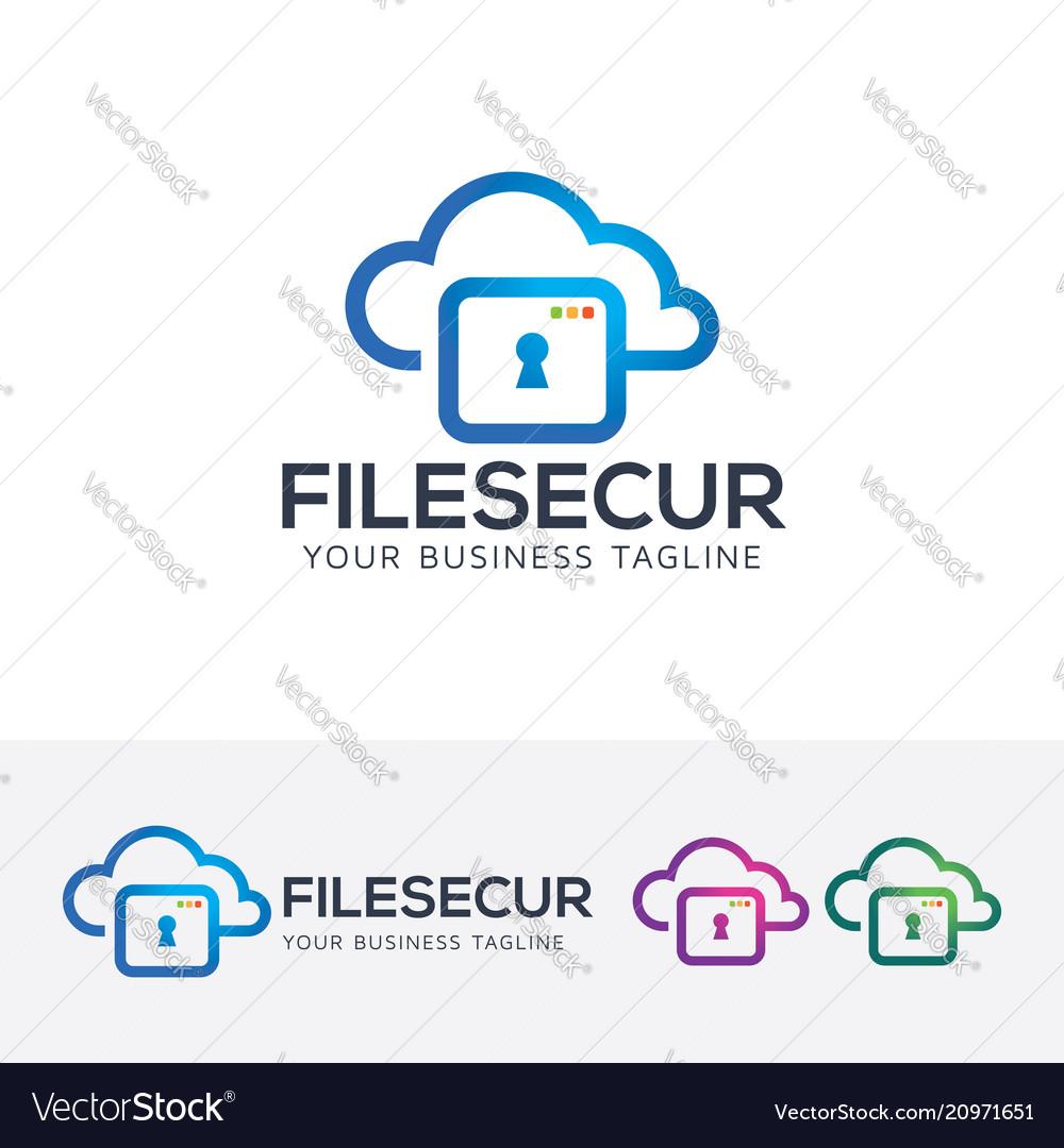 File security logo design