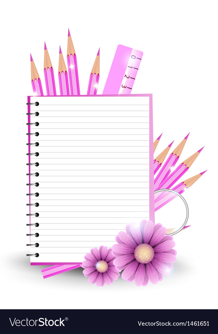Girlish back to school background or card