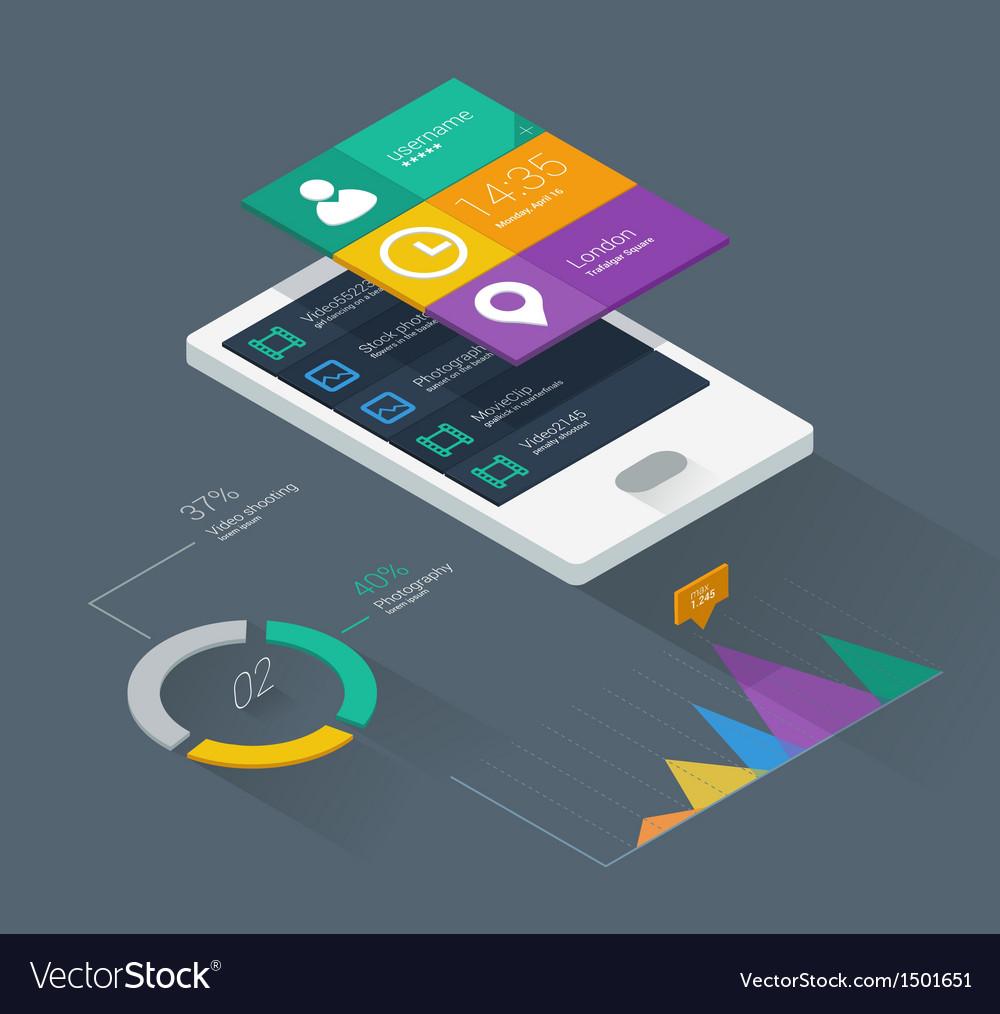 Mobile application concept vector image