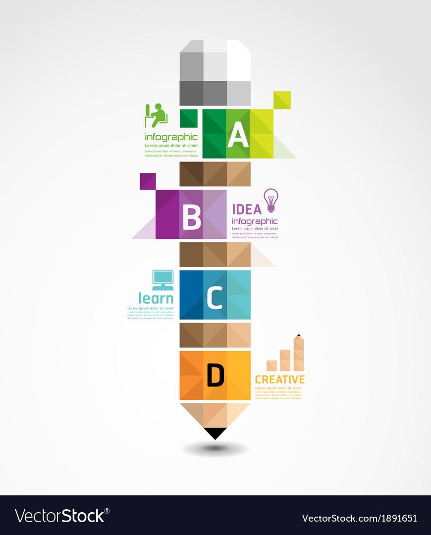 Pencil geometric banner concept