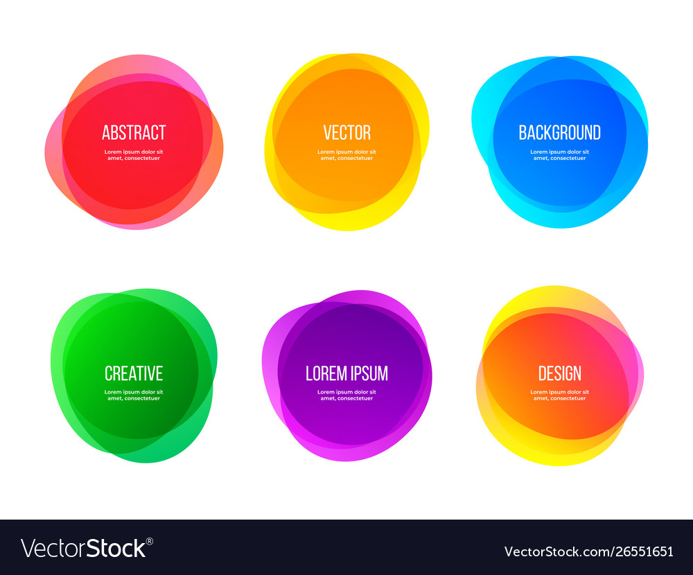 Round colorful abstract shapes color gradient