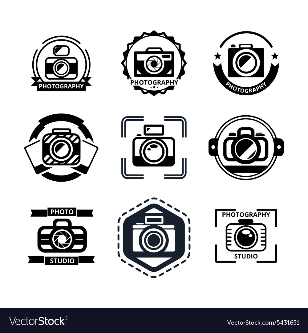 Vintage photography badges or logos