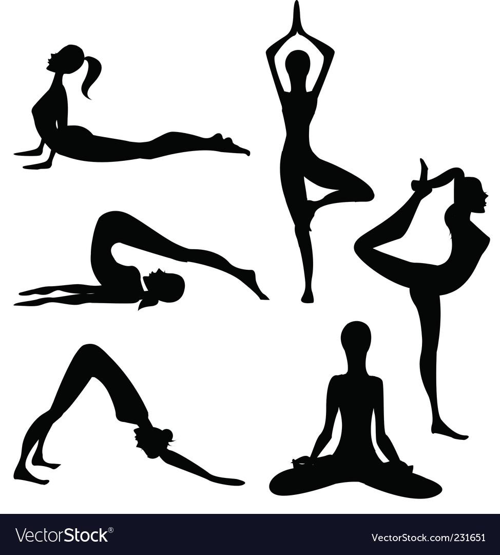 yoga royalty free vector image vectorstock rh vectorstock com yoga vector png yoga vector images