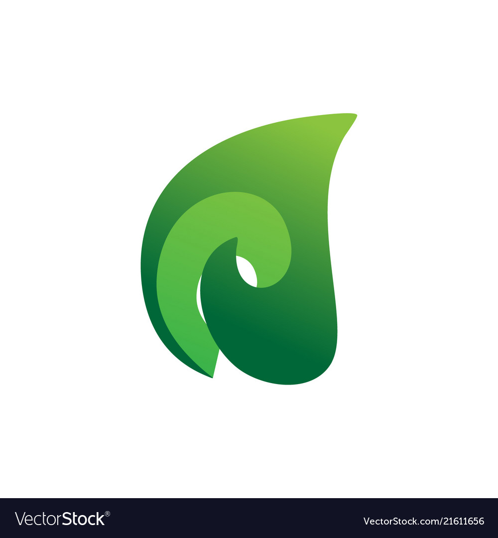 3d leaf nature logo