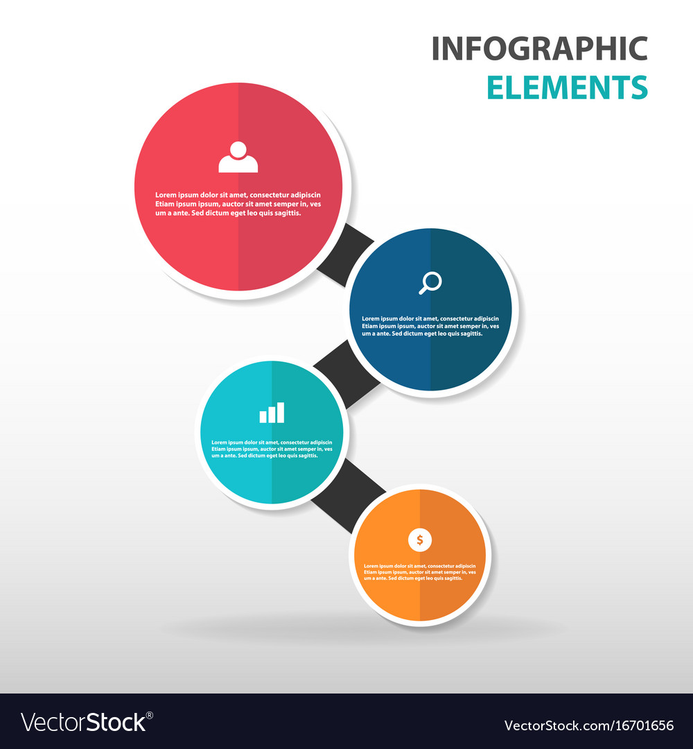 Abstract circle business infographics elements