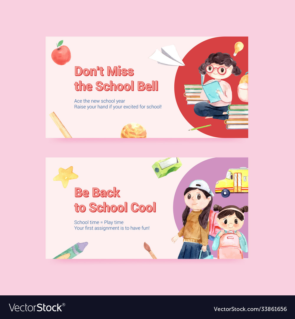 Back to school and education concept with twitter