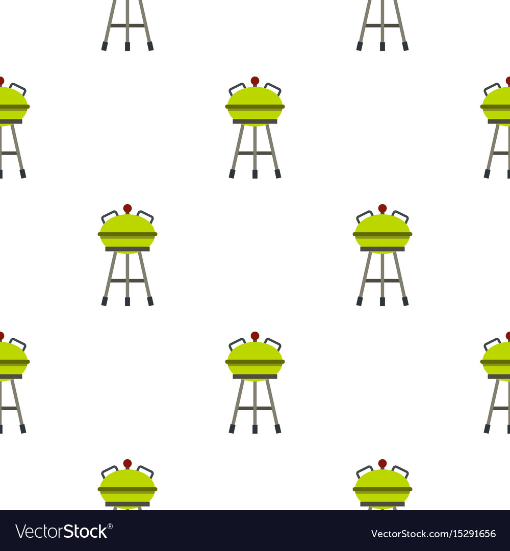Barbecue grill pattern flat
