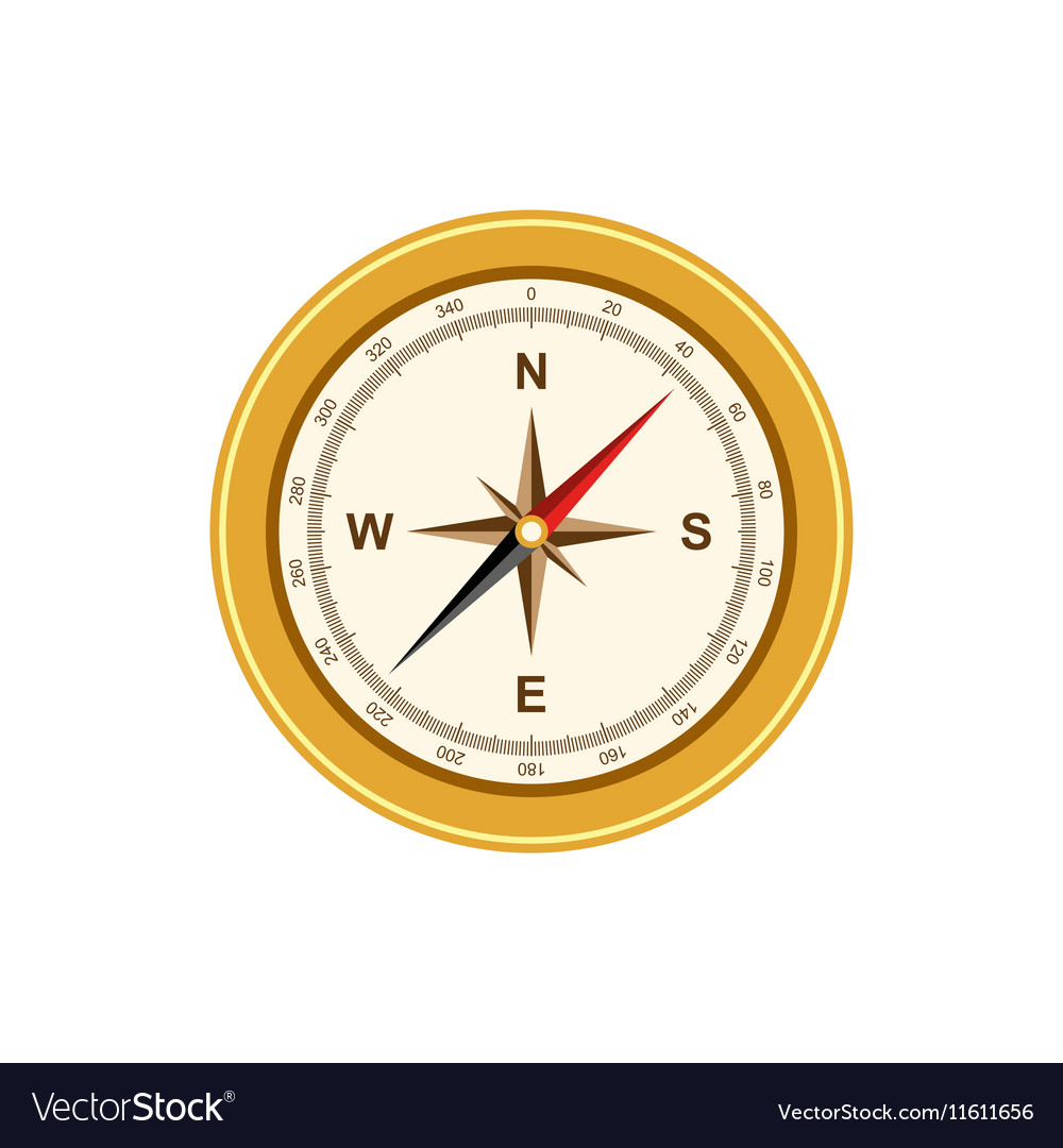 Compass antique retro style isolated
