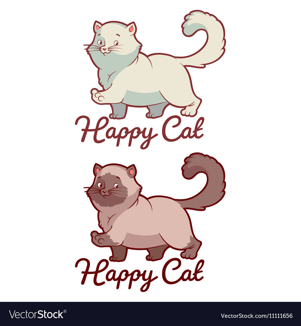 Logo template for pet shop with happy cat