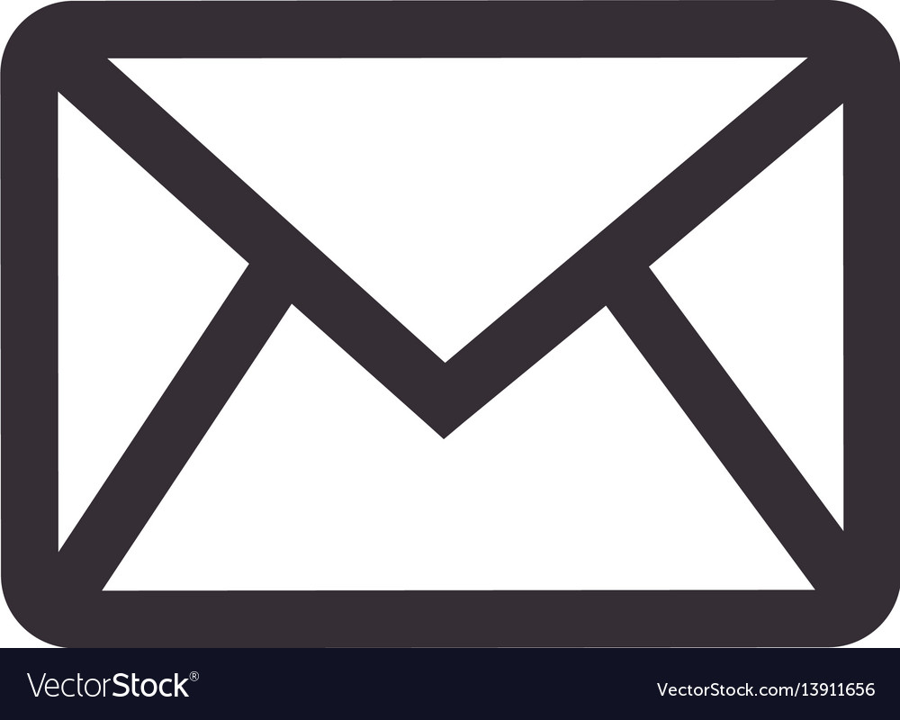monochrome contour with envelope mail royalty free vector