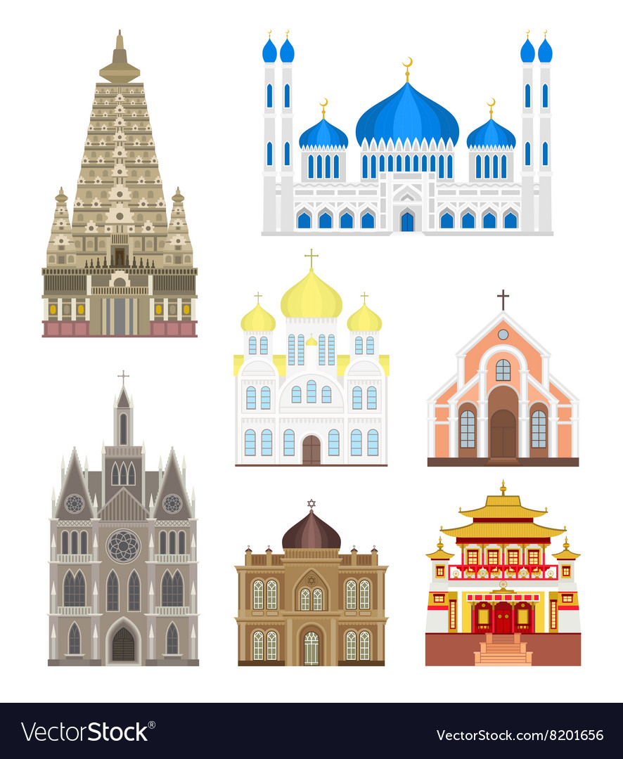 Set cities in middle famous buildings travel