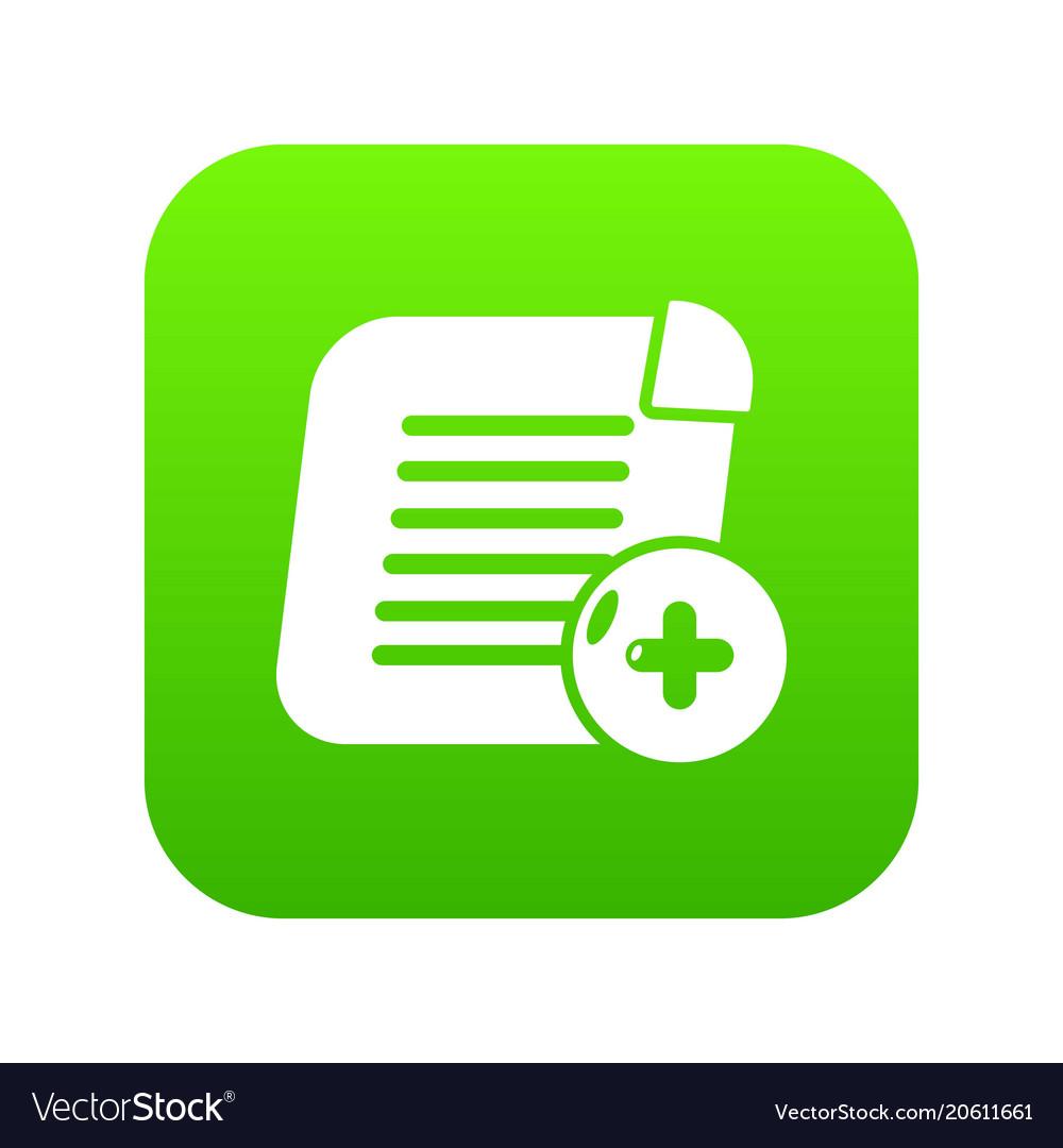 Add new icon green