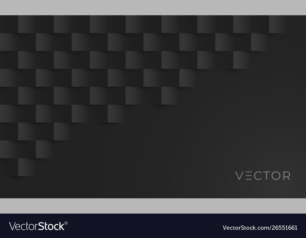 Black geometric texture pattern background