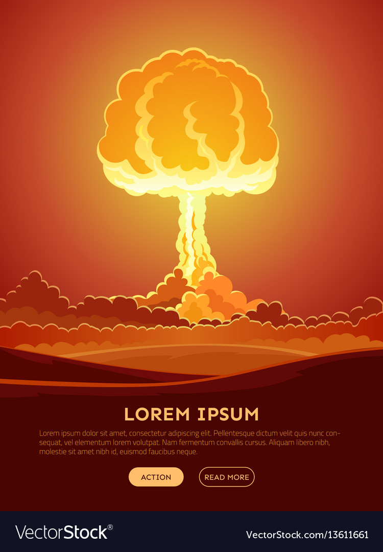 Bright nuclear explosion poster