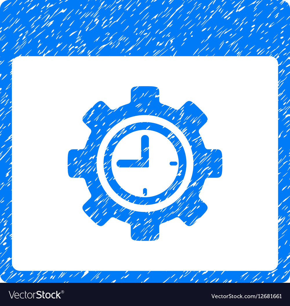 Clock Configuration Gear Calendar Page Grainy