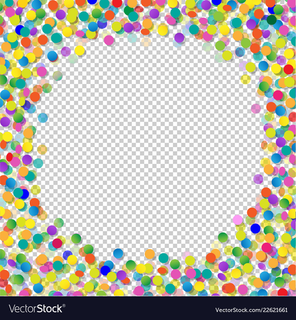 Confetti with transparent background