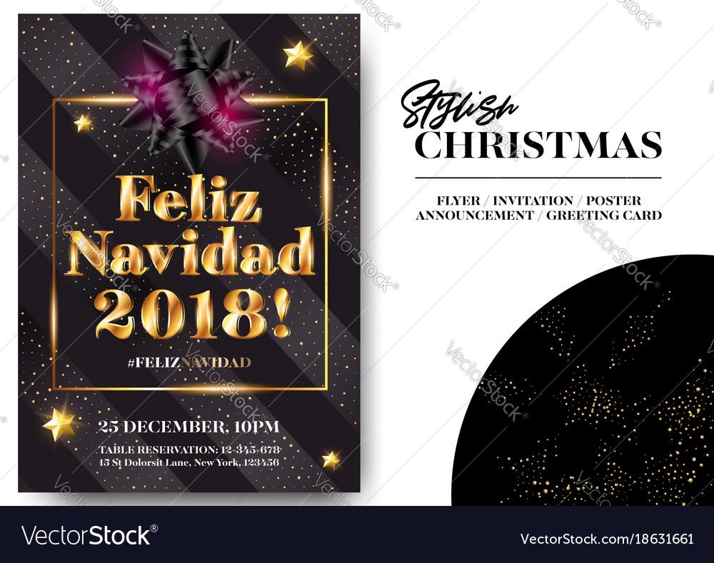 Merry Christmas In Spanish.Feliz Navidad 2018 Merry Christmas In Spanish