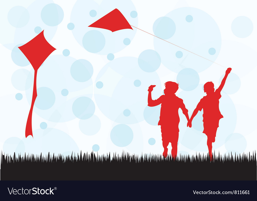Fly Kite vector image