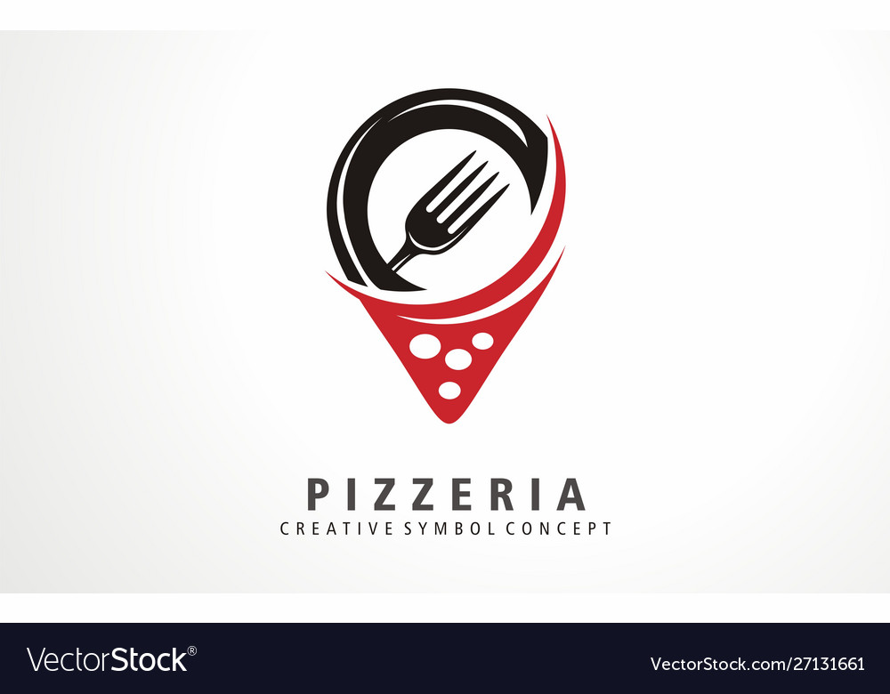 Pizza pizzeria map location logo