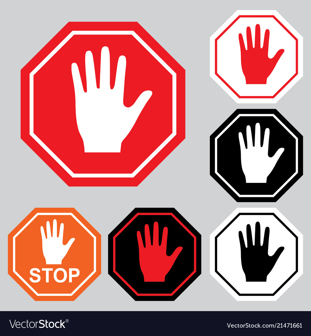 Stop Sign Warning Danger Symbol Royalty Free Vector Image