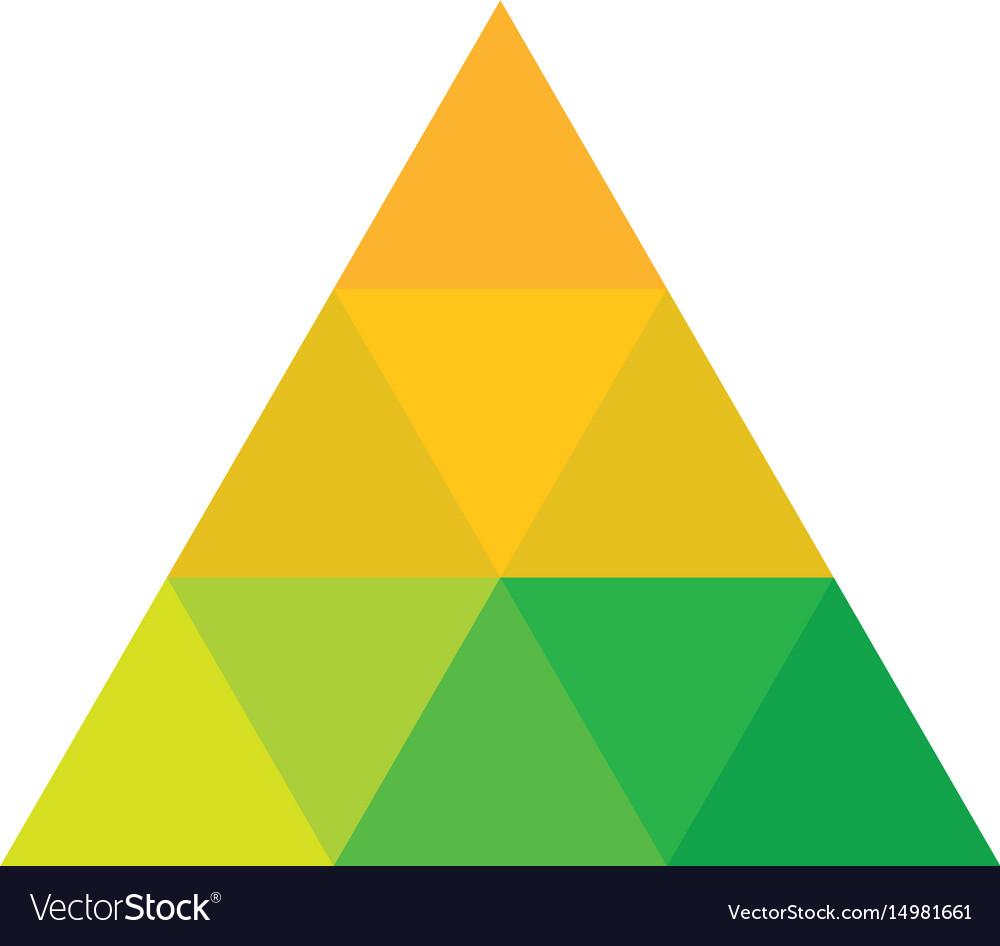Triangle colored logo image