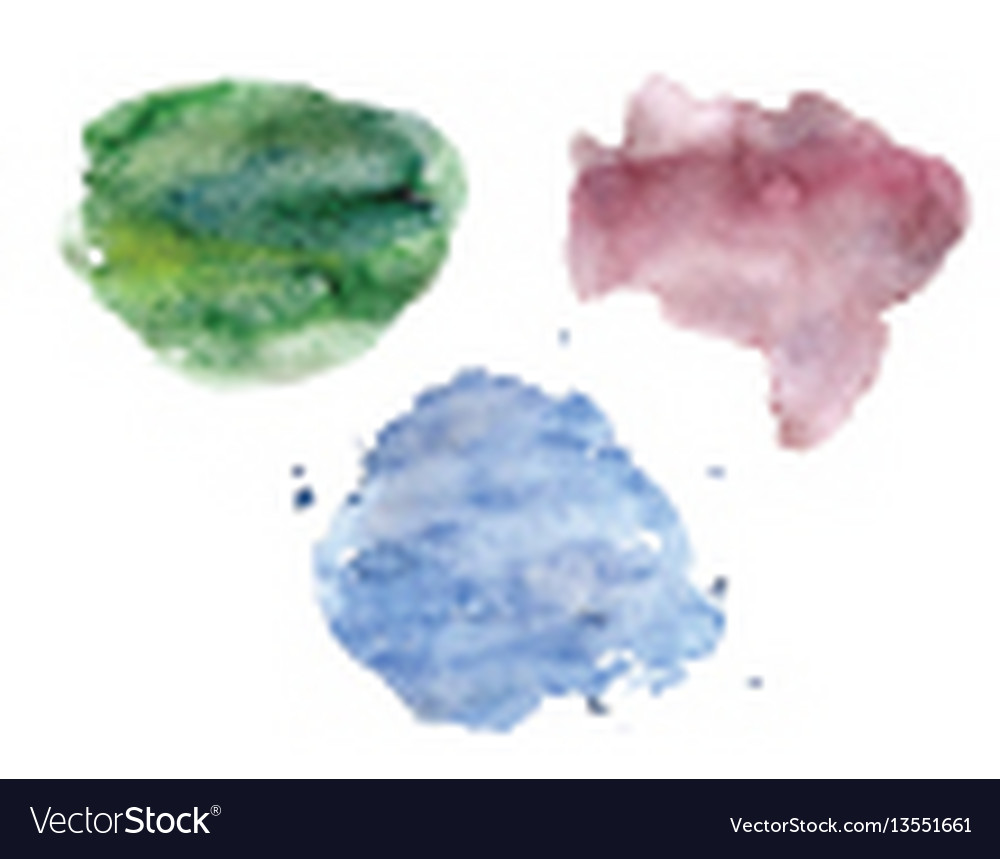 Watercolor spots set pastel colors