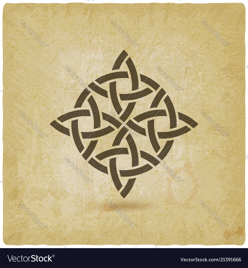 Abstract twisted symbol vintage background