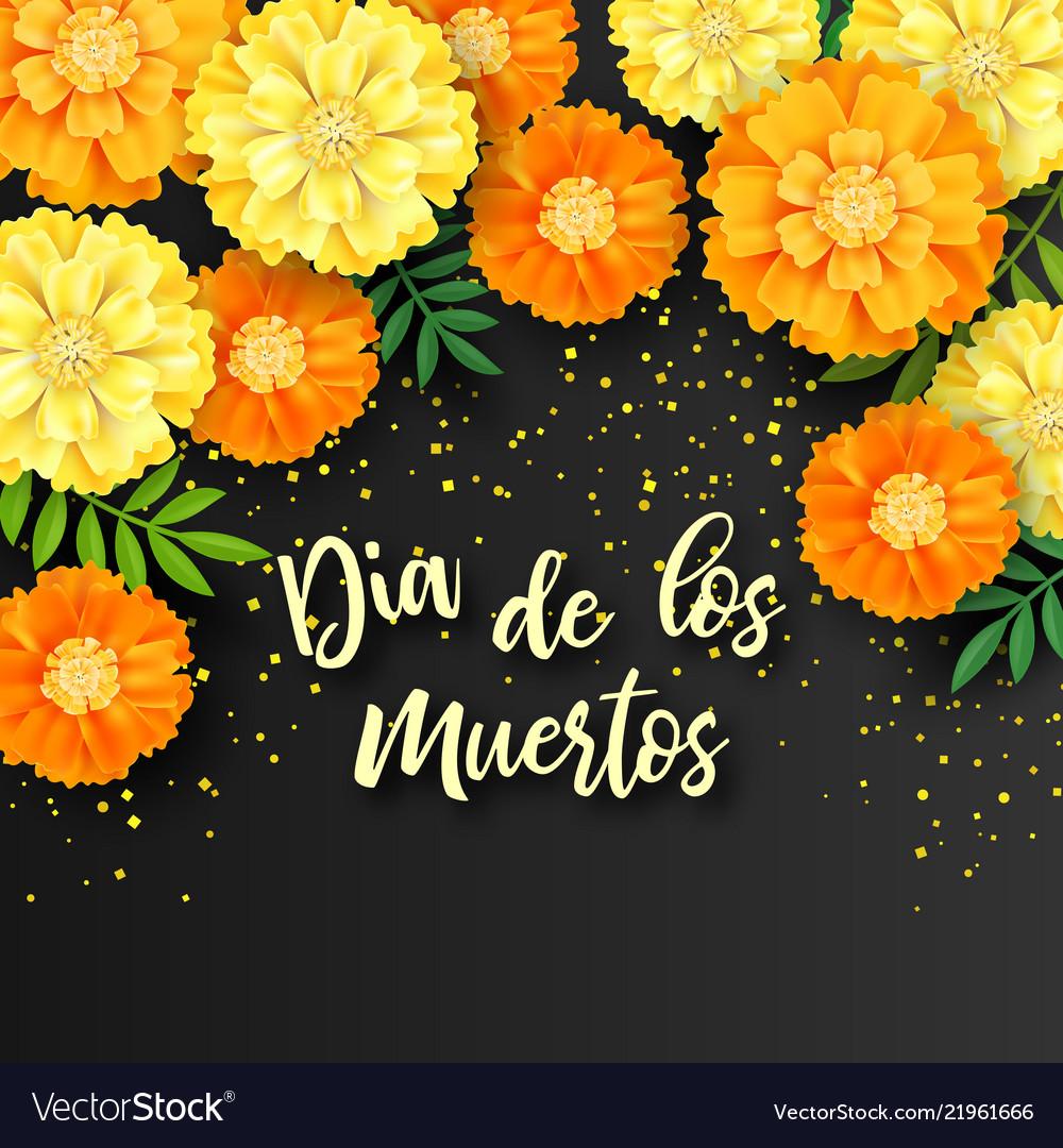 Decorative background with orange marigolds