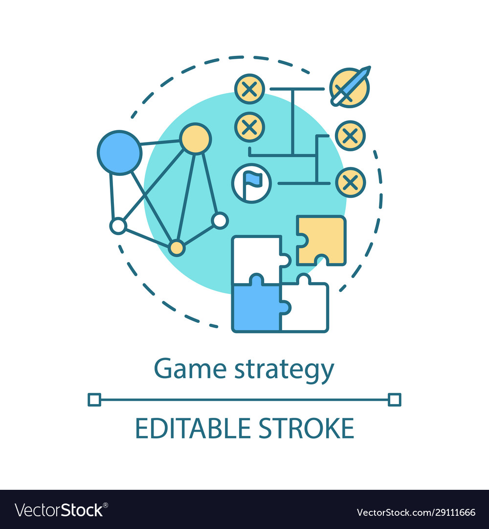Game strategy concept icon
