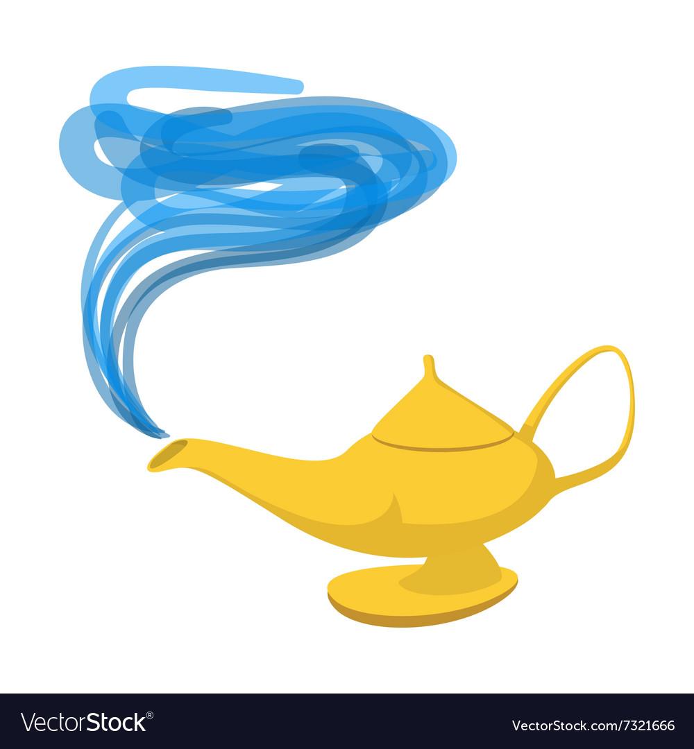 Lamp Aladdin cartoon icon vector image