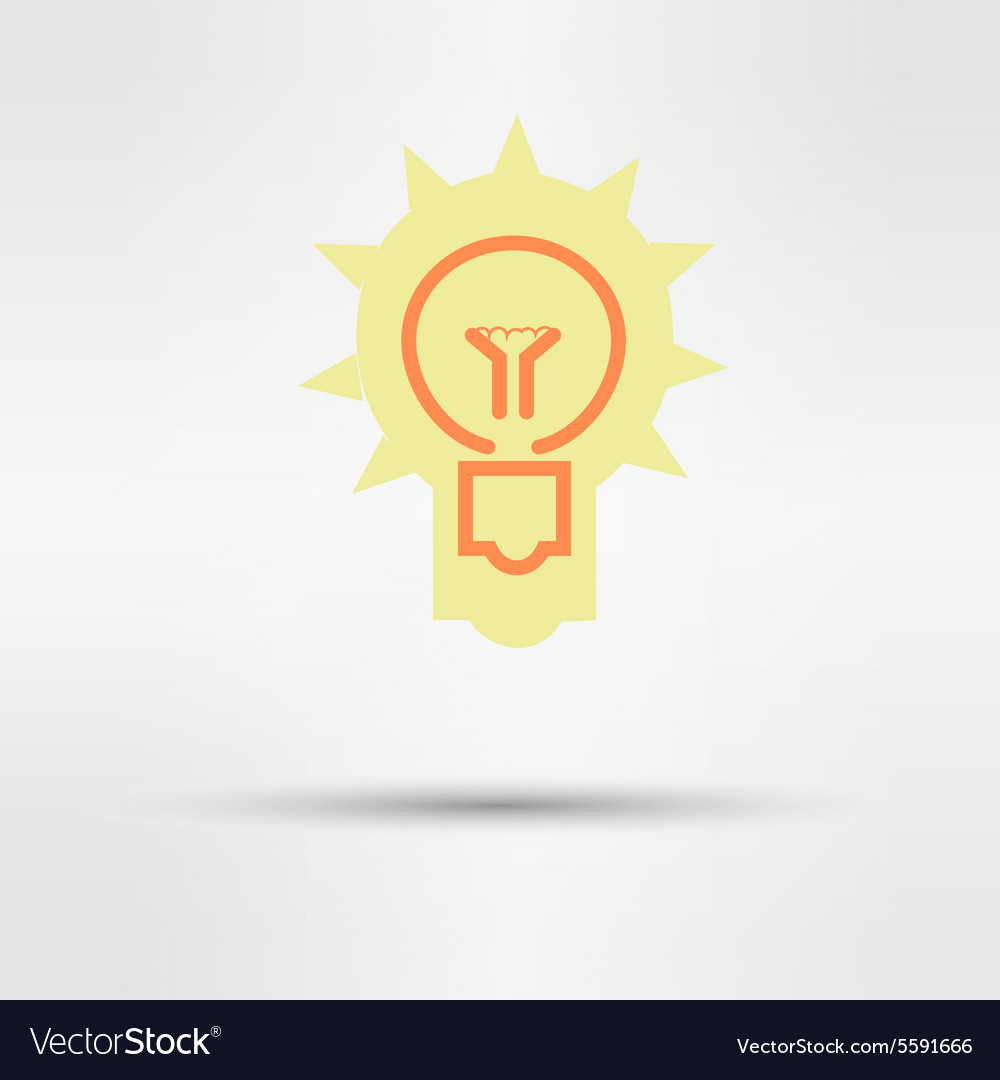 Light sign ideas web icon design