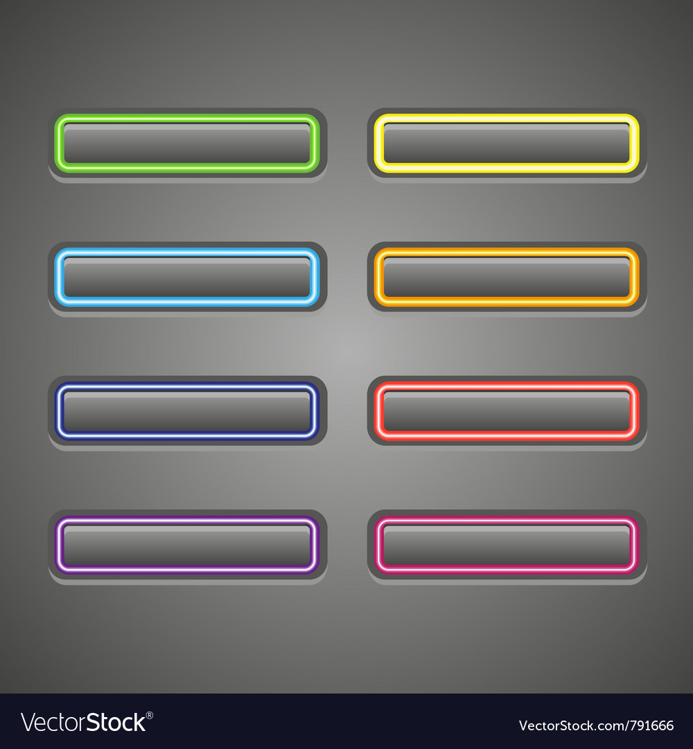 Set of glowing web buttons